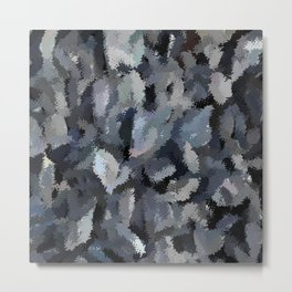 Shades of Gray Tapestry Metal Print