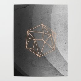 Geometric Solids on Marble Poster