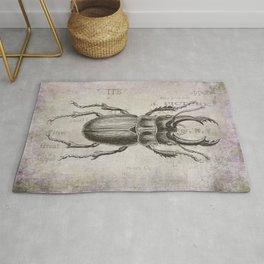 Grunge Style Stag Beetle Rug