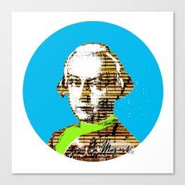 Mozart Kugel Blue Canvas Print