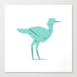 Origami Stork Canvas Print