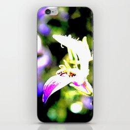 Bee in purple iPhone Skin