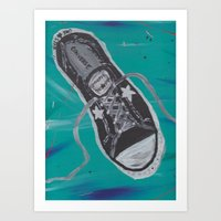 sneaker Art Prints featuring Converse Sneaker by Brynne Perry