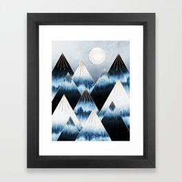 Frost Mountains Framed Art Print