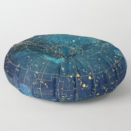 Star Map :: City Lights Floor Pillow