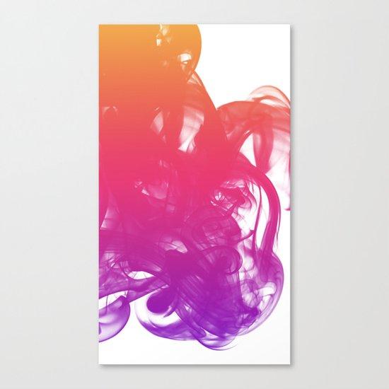 Ink & smoke Canvas Print