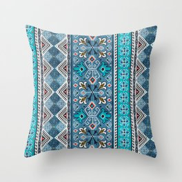 Grand Bazaar - Blue Throw Pillow