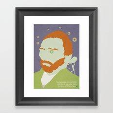 Van Gogh Portrait Framed Art Print