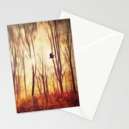 the art of falling apart - abstract trees in morning light Stationery Cards
