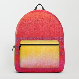 Watercolor Sunset Stripe Backpack