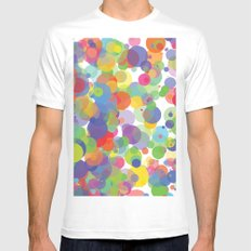Candy Dots White MEDIUM Mens Fitted Tee