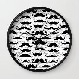 Hipster Mustache Wall Clock