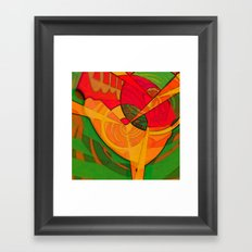 Tropical Farm Woman Framed Art Print