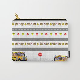 School Bus Fun Carry-All Pouch