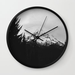 Mt. Hood B&W Wall Clock