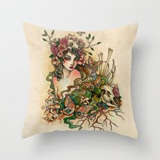 Life and Bones Throw Pillow