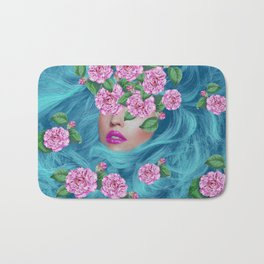 Lady with Camellias Bath Mat