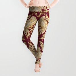 A Modern Vintage Dream (ruby red background) Leggings