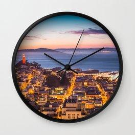 Coit Tower Alcatraz Wall Clock