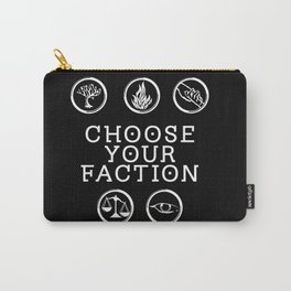 Divergent - Choose Your Faction (White) Carry-All Pouch