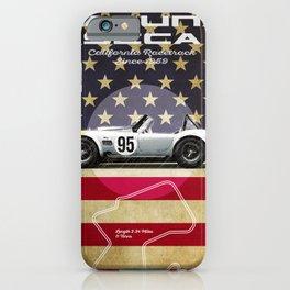 Laguna Seca Racetrack Vintage iPhone Case