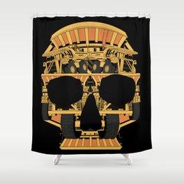 Skull dump truck Shower Curtain