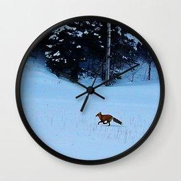 Fox on the Run Wall Clock