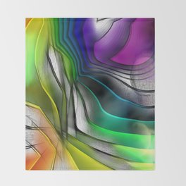COLOR COVERGECE ABSTRACT Throw Blanket