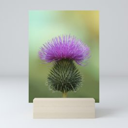 Bright Purple and Green Thistle Mini Art Print
