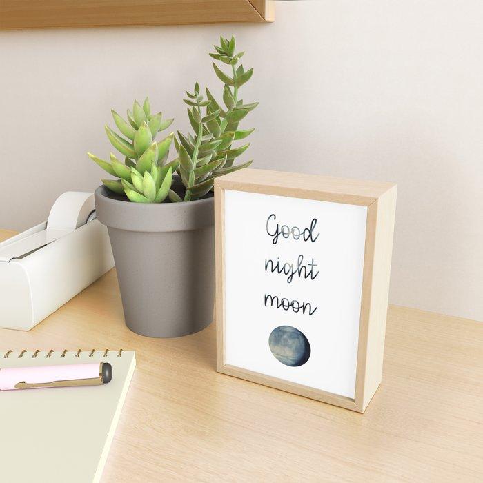 Good Night Moon Framed Mini Art Print