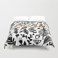 hustle Duvet Covers featuring Hustle by wildpink