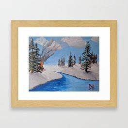 Fire by the Creek Framed Art Print