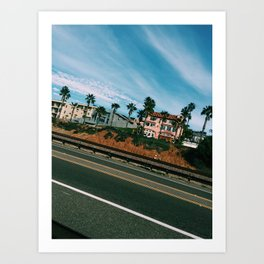 Pacific Coast Highway. Art Print