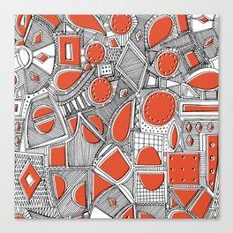RAZZ BW TOMATO Canvas Print