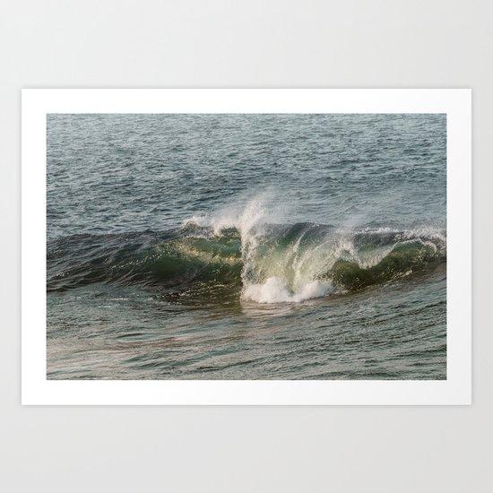 Wave at Bearskinneck Art Print