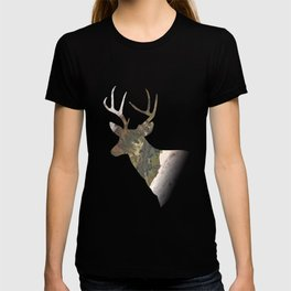 Deer silhouette mountain outdoor antlers gift T-shirt