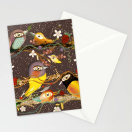 Birds on a branch  Zu hause mit kinder HOME DEKOR 2020 Stationery Cards