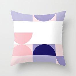 Minimal Bauhaus Semi Circle Geometric Pattern 2 - #bauhaus #minimal Throw Pillow