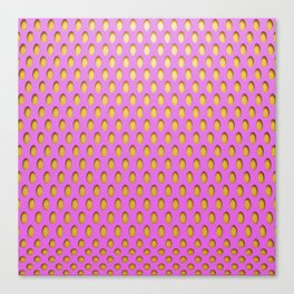 Elongated Holes3 Spanked Pink Canvas Print