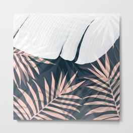Elegant Palm Trees Foliage Design Metal Print