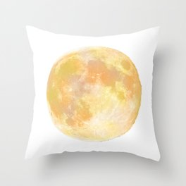 moon tapestry for window screening Throw Pillow