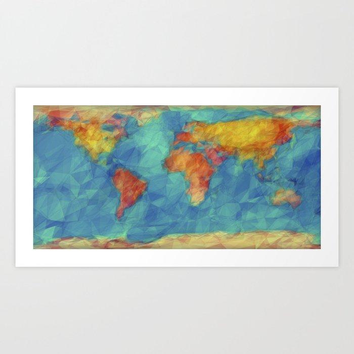 World map art print by jrschmidt society6 world map art print gumiabroncs Image collections
