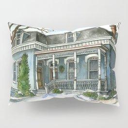 A Cozy Winter Cottage Pillow Sham