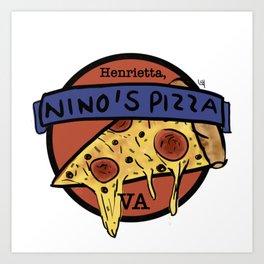 Nino's Pizza Art Print