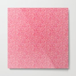 Pink Moondust Glitter Pattern Metal Print
