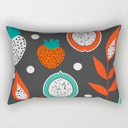 Strawberries and citrus fruits at night Rectangular Pillow