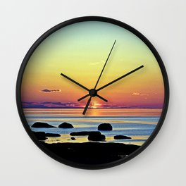 Summer's Glow Wall Clock