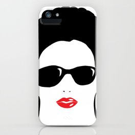 Afro chic in sunshades iPhone Case