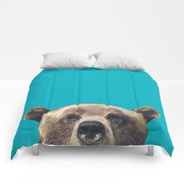 Bear - Blue Comforters