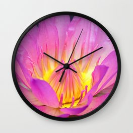 Brightly Blooming Water Lily Wall Clock